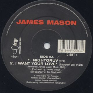 James Mason / I Want Your Love (Re) label