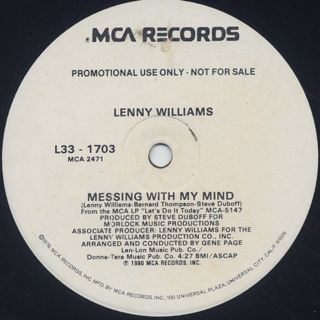 Lenny Williams / Messing With My Mind back