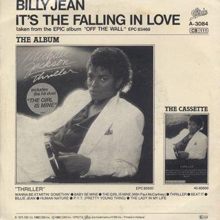 Michael Jackson / Billie Jean c/w It's The Falling In Love back