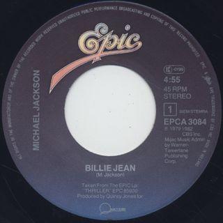 Michael Jackson / Billie Jean c/w It's The Falling In Love label