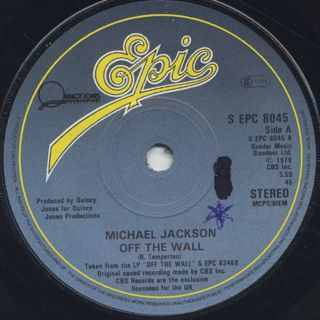 Michael Jackson / Off The Wall c/w Working Day And Night