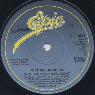 Michael Jackson / Off The Wall c/w Working Day And Night back