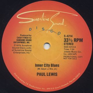 Paul Lewis / Girl, You Need A Change Of Mind c/w Inner City Blues back