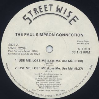 Paul Simpson Connection / Use Me, Loose Me front