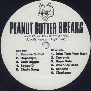 Peanut Butter Wolf / Peanut Butter Breaks label
