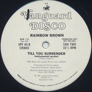 Rainbow Brown / Till You Surrender back