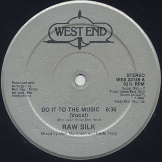 Raw Silk / Do It To The Music back