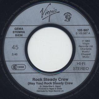 Rock Steady Crew / (Hey You) The Rock Steady Crew label