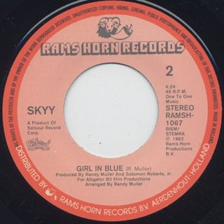 Skyy / Call Me c/w Girl In Blue label