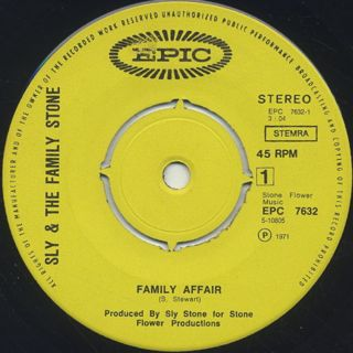 Sly & The Family Stone / Family Affair label