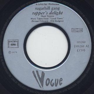 Sugarhill Gang / Rapper's Delight label
