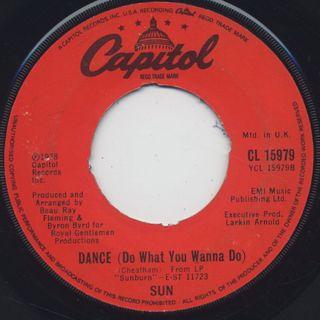 Sun / Sun Is Here c/w Dance (Do What You Wanna Do) back