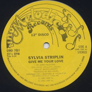 Sylvia Striplin / Give Me Your Love c/w You Can't Turn Me Away front