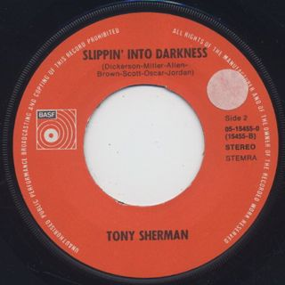 Tony Sherman / Tonight c/w Slippin' Into Darkness back