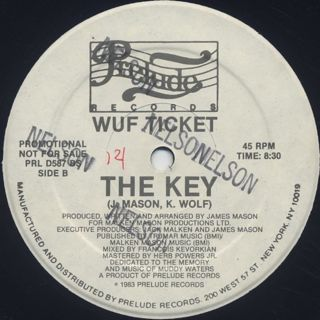 Wuf Ticket / The Key back