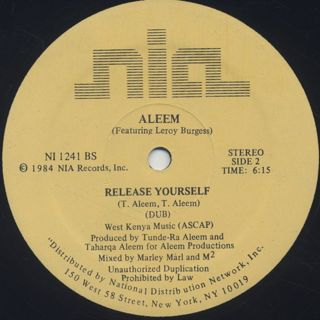 Aleem / Release Yourself label