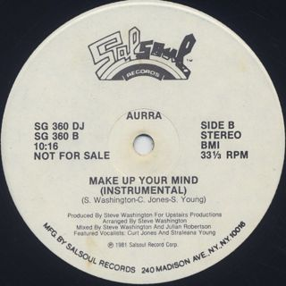 Aurra / Make Up Your Mind label