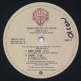 B-52's / Mesopotamia label