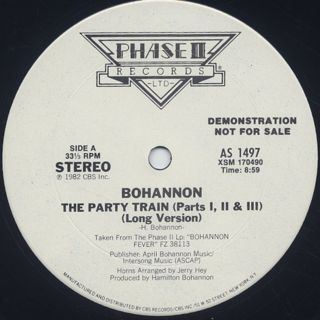 Bohannon / The Party Train front