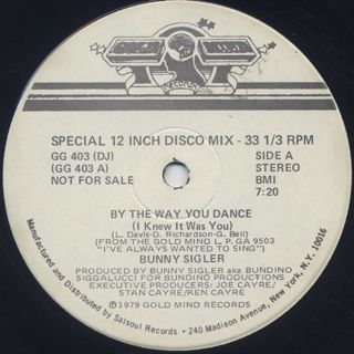 Bunny Sigler / By The Way You Dance (I Knew It Was You) back
