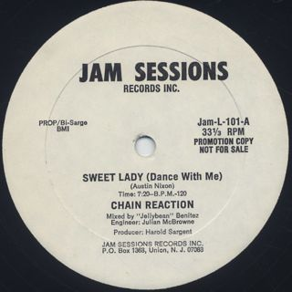 Chain Reaction / Sweet Lady c/w Changes back