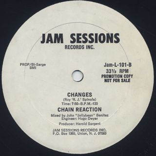 Chain Reaction / Sweet Lady c/w Changes label