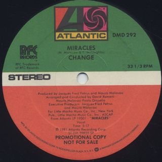 Change / Miracles c/w Heaven Of My Life back