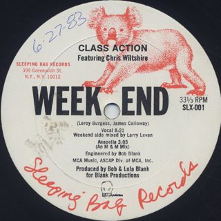 Class Action Featuring Chris Wiltshire / Weekend back