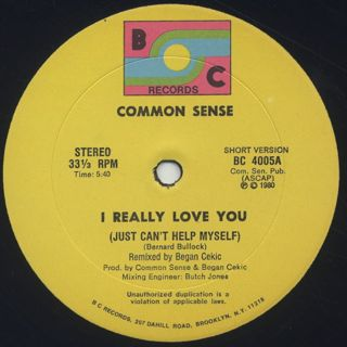 Common Sense / Just Can't Help Myself (I Really Love You) back
