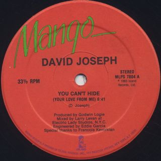 David Joseph / You Can't Hide (Your Love From Me) back