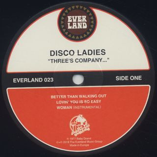 Disco Ladies / Three's Company... label