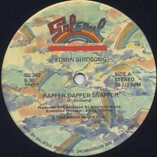 Edwin Birdsong / Rapper Dapper Snapper back