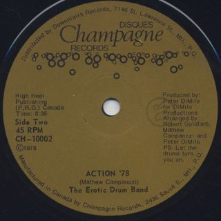 Erotic Drum Band / Action 78 label