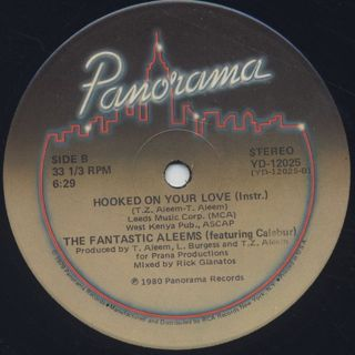 Fantastic Aleems / Hooked On Your Love label