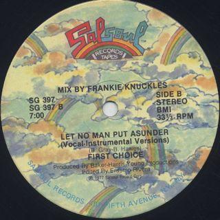 First Choice / Let No Man Put Asunder label