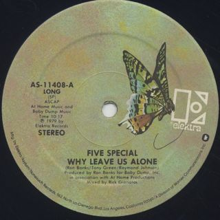 Five Special / Why Leave Us Alone label