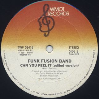 Funk Fusion Band / Can You Feel It back