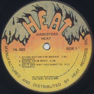 Gangsters / Heat I label