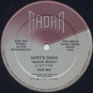 Gary's Gang / Makin' Music label