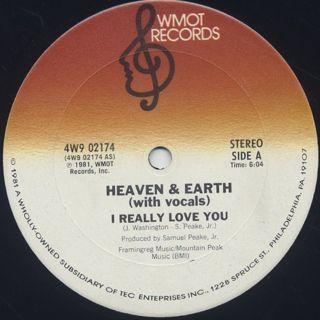 Heaven & Earth / I Really Love You front