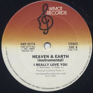 Heaven & Earth / I Really Love You back