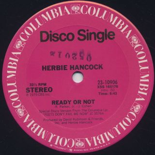 Herbie Hancock / You Bet Your Love c/w Ready Or Not label