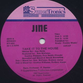 Jine / Take It To The House label