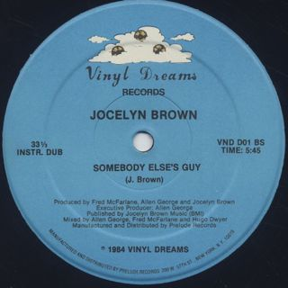 Jocelyn Brown / Somebody Else's Guy back