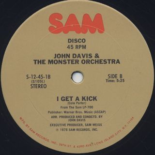John Davis & The Monster Orchestra / I Can't Stop label