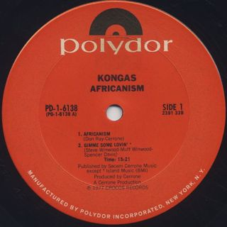 Kongas / Africanism label