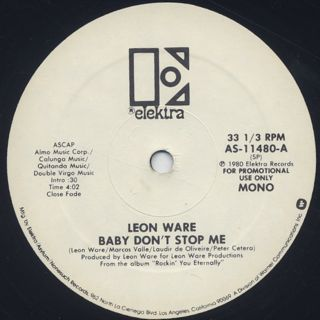 Leon Ware / Baby Don't Stop Me (12
