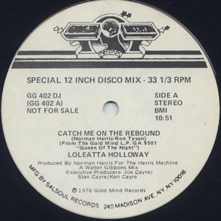 Loleatta Holloway / Catch Me On The Rebound back