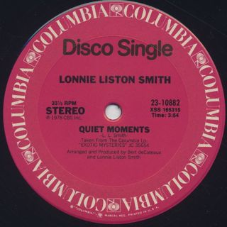 Lonnie Liston Smith / Space Princess c/w Quiet Moments label