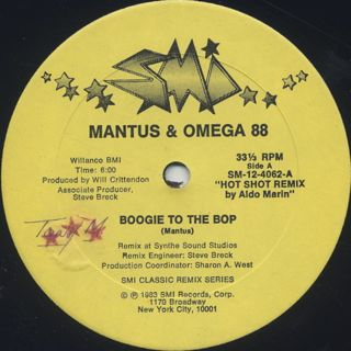 Mantus & Omega 88 / Boogie To The Bop back